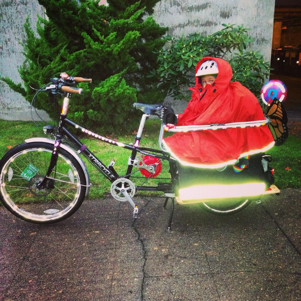 Seattle Family Biking prepares bikers for any kind of weather while having fun!