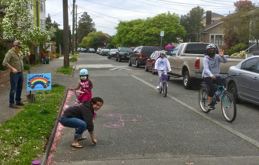 People using the Beacon Hill Stay Healthy Street