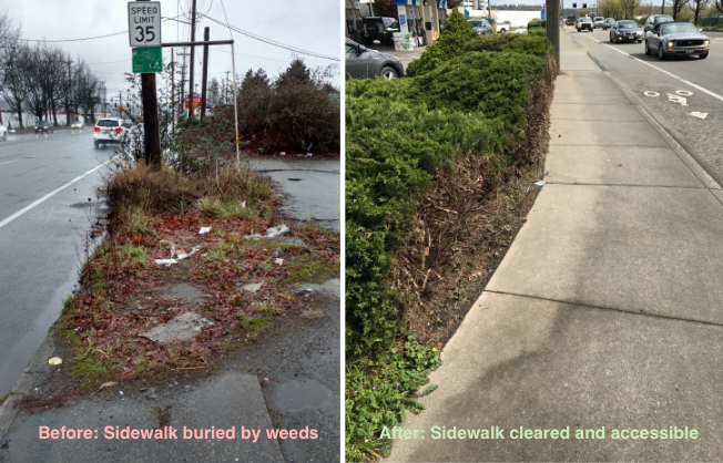 Before after sidewalk Georgetown 2. 2017