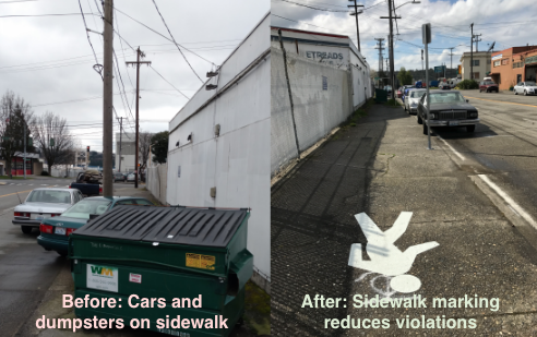 Before after sidewalk Georgetown 3. 2017