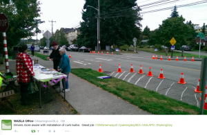 Protected Intersection at NE 40th & Burke Gilman Trail