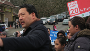 Council President Bruce Harrell spoke at the Memorial for Ronacin Tjhung