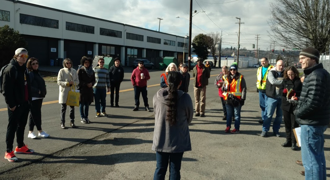 Duwamish Valley Safe Streets leads tour to homeless camps for agency & City officials