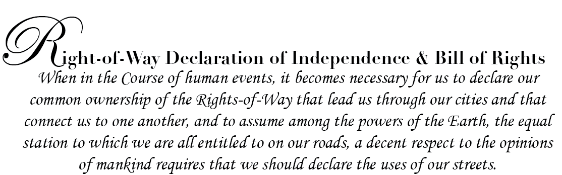 Declaration of Right of Way Rights
