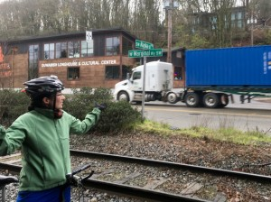 Getting to the Duwamish Longhouse today is currently very dangerous
