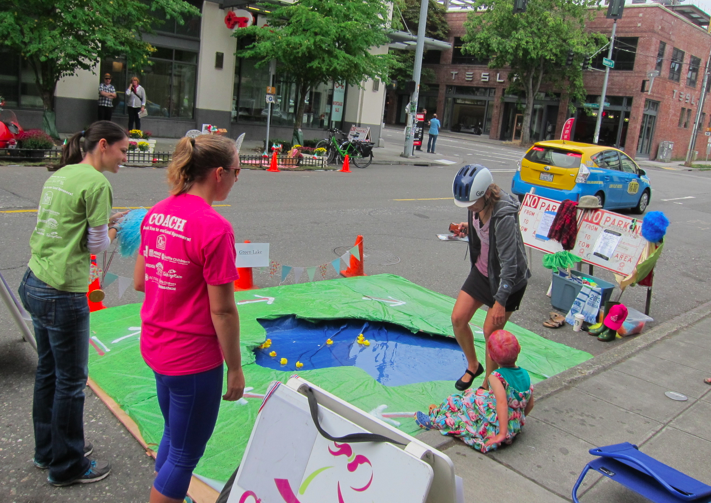 Girls on the Run was one of several playful pop-ups in South Lake Union.