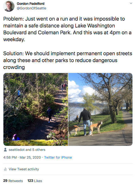 Gordon's post about social distancing in parks