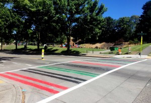 Pan-African Raised crosswalk (bike blog image)