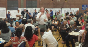Mayor Murray at Rainier Ave S Open House 7-301-15