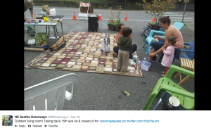 Outdoor space for families Park(ing) Day