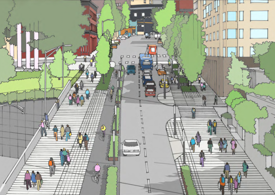 Pike, Pine and other streets will be getting a lot more space for people to walk and bike