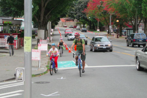 Rainier Ave S Protected Bike Lanes experiment