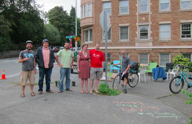 A few of the harworking and happy Park(ing) Day crew.