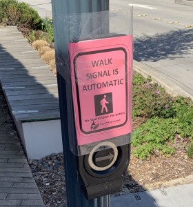Walk Signal Is automatic sign in Redmond, WA