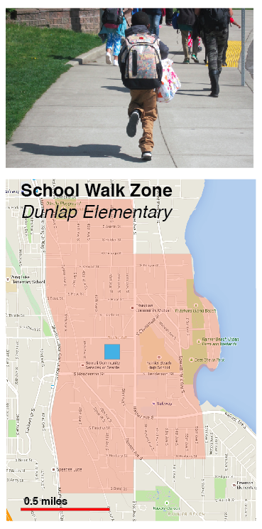 School Walk Zone Dunlap Elementary