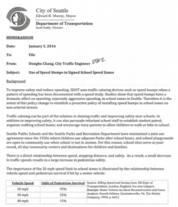 2016 SDOT Speed Hump Policy page 1