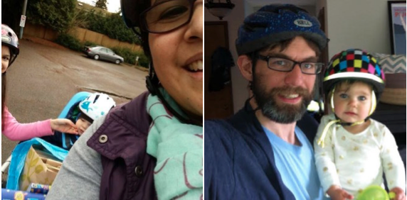 Shirley & Tim struggle to bike with their families in Seattle