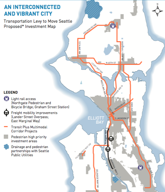 Move Seattle funded Multimodal Corridors