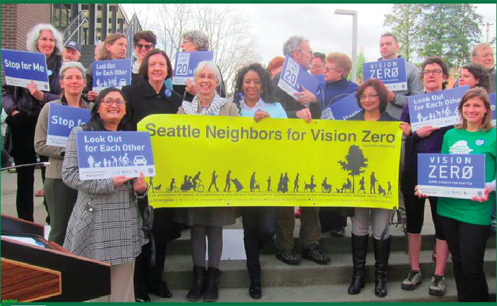 Community Coalition Launches Seattle Neighbors for Vision Zero www.VisionZeroSea