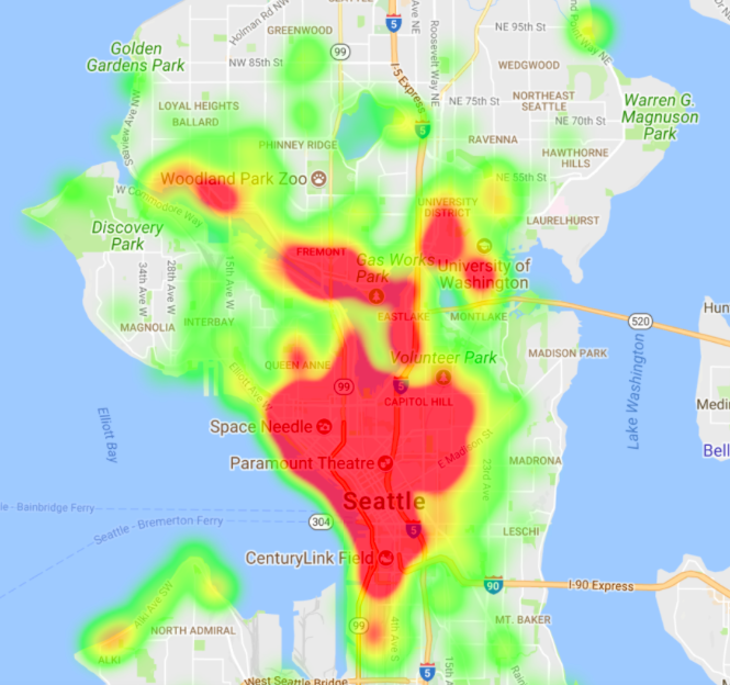 First week map of Spin bike destinations http://bit.ly/2wqy5hp
