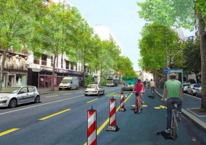 paris graphic for emergency bike routes
