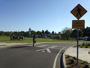 raised crosswalk in Magnuson Park