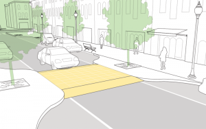 NACTO speed-table raised crosswalk diagram